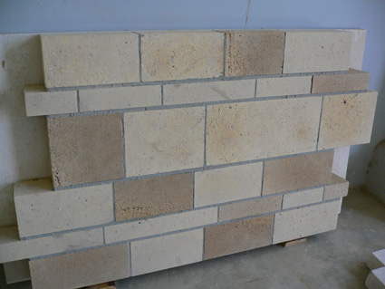 Sand blasted face marble wall pavers