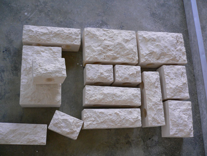 Rock face marble wall pavers