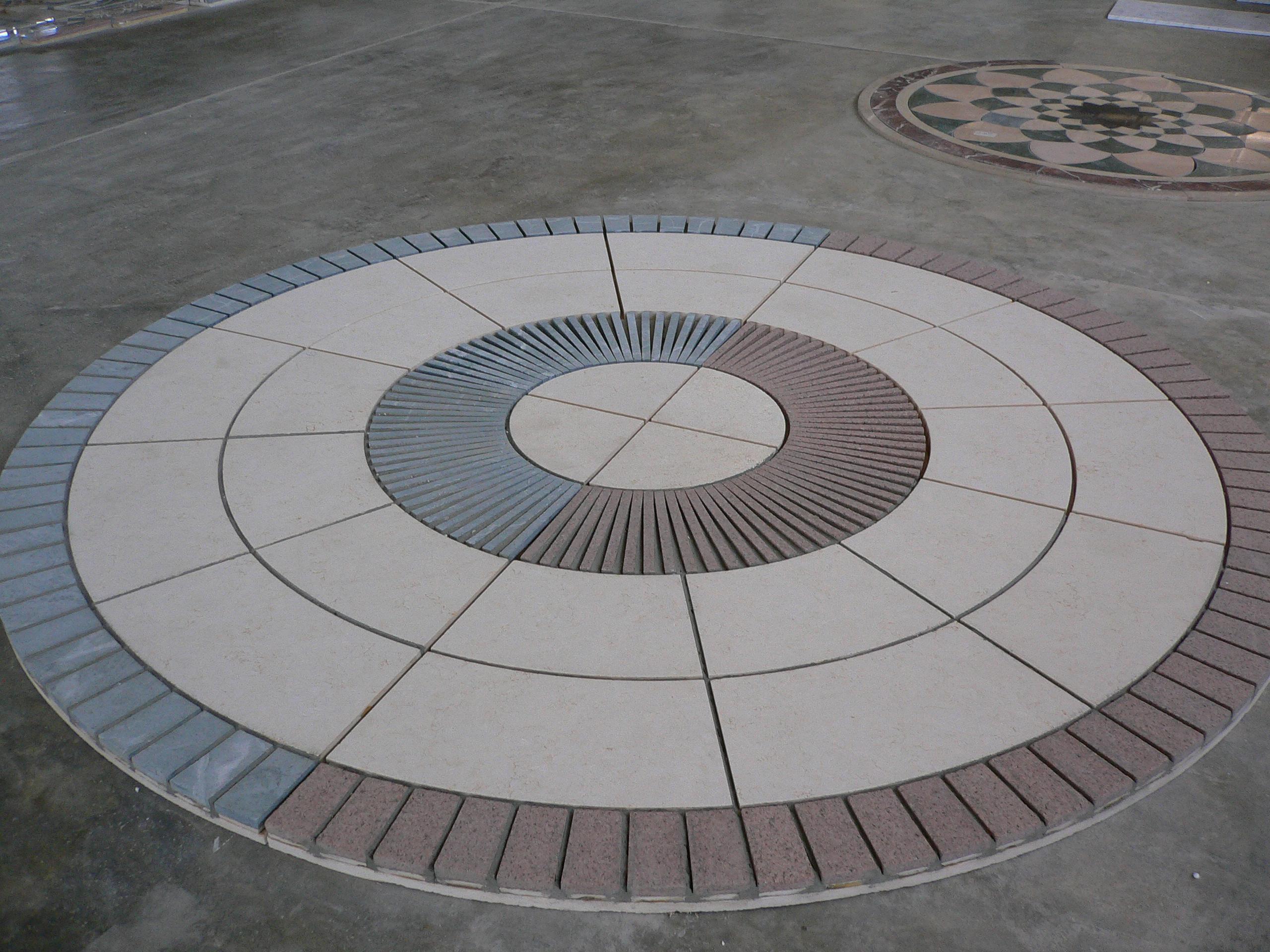 Circular marble floor